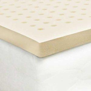 Certified Organic Latex Mattress Topper by Organic Textiles. Medium firmness, 2-inch thick. Queen size. Premium Version – All Organic
