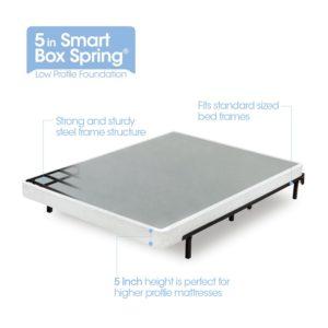 Zinus 5 Inch Low Profile Smart Box Spring / Mattress Foundation