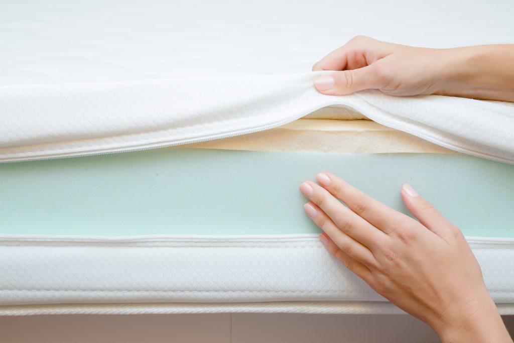 Use a mattress topper tomake a memory foam mattress firmer.